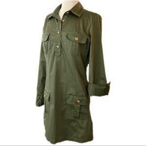 OLD NAVY Button-Front Shirt Dress Sz S